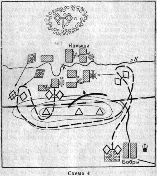 Противник занимал оборону по реке К. Атака одного из его опорных пунктов - Камыши, предпринятая стрелковым...